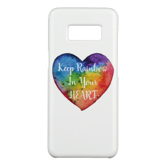 Cute Watercolor Rainbow Heart Case-Mate Samsung Galaxy S8 Case