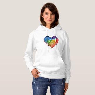 Cute Watercolor Rainbow Heart Hoodie