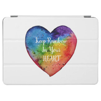 Cute Watercolor Rainbow Heart iPad Air Cover