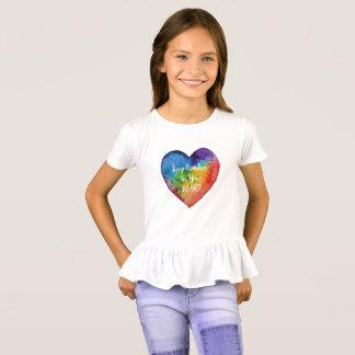 Cute Watercolor Rainbow Heart T-Shirt