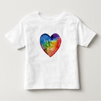 Cute Watercolor Rainbow Heart Toddler T-Shirt