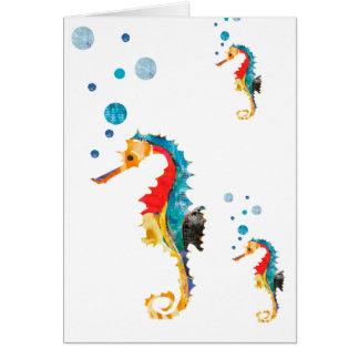 Cute Watercolor SEA HORSE seahorse Ocean Animal Greeting Card