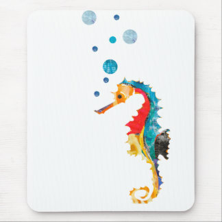 Cute Watercolor SEA HORSE seahorse Ocean Animal Mouse Mat