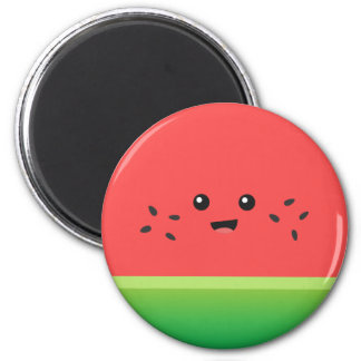 Cute Watermelon, Happy and Cheerful 6 Cm Round Magnet