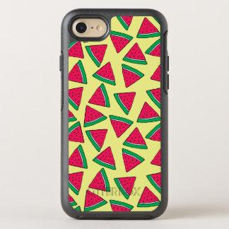 Cute Watermelon Slice Cartoon Pattern OtterBox Symmetry iPhone 8/7 Case