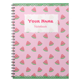 Cute Watermelon Slices Pattern Notebook