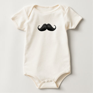 Cute Waxed and Braided Moustache Baby Shirts