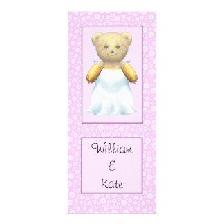Cute Wedding Bride Teddy Bear Personalized Announcement