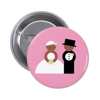 Cute wedding couple pinback buttons