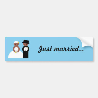 Cute wedding couple bumper sticker