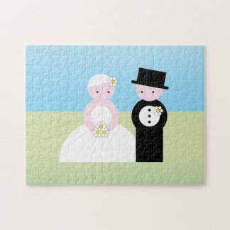 Cute wedding couple puzzles