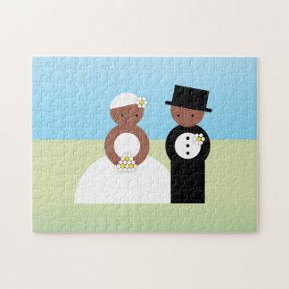 Cute wedding couple jigsaw puzzle