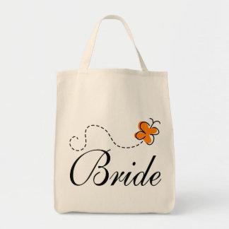 Cute Wedding Day Bride Tote Bag