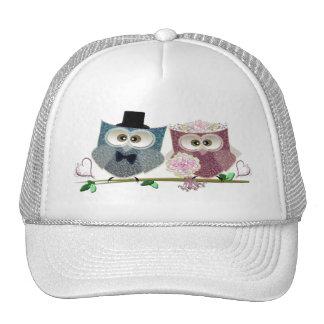 Cute Wedding Owls Cap