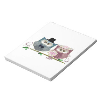 Cute Wedding Owls Notepad