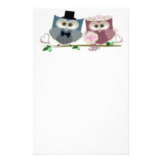 Cute Wedding Owls Stationery