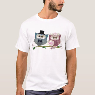 Cute Wedding Owls T-Shirt
