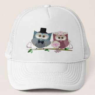 Cute Wedding Owls Trucker Hat