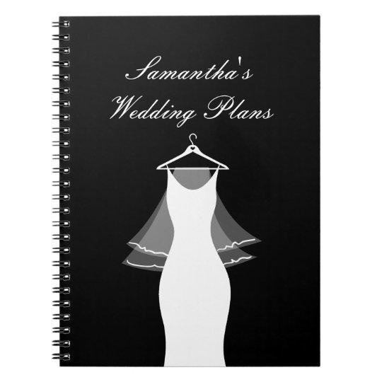 Cute wedding planner organiser notebook for bride