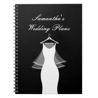 Cute wedding planner organizer notebook for bride
