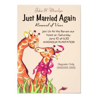 Cute Wedding Renewal Vows Invitations