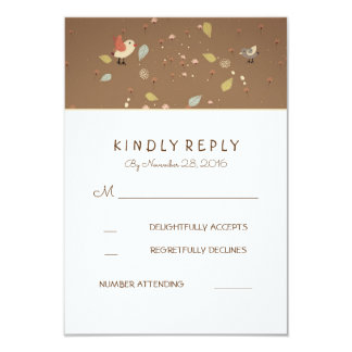 Cute Wedding RSVP Cards