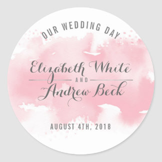 CUTE WEDDING SEAL stylish watercolor blush pink