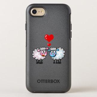 cute wedding sheep couple OtterBox symmetry iPhone 8/7 case