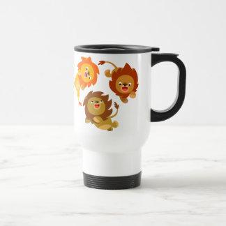 Cute Weightless Cartoon Lions Commuter Mug