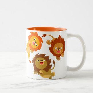 Cute Weightless Cartoon Lions Mug
