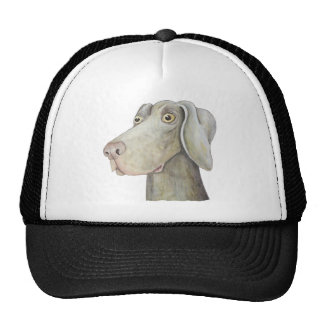 Cute weimaraner painting cap