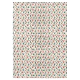 Cute Wellington Boots Watering Can Flowers Pattern Tablecloth