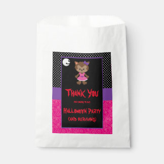 Cute Werewolf Girl Halloween Party Favour Bags
