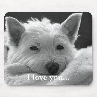 Cute West Highland Terrier Dog Mousemat Mousepad