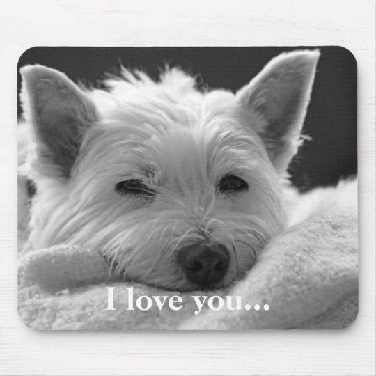 Cute West Highland Terrier Dog Mousemat / Mousepad