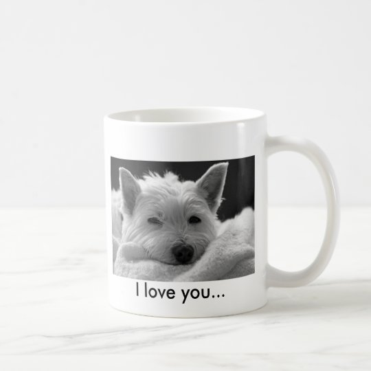 Cute West Highland Terrier Dog Mug - I