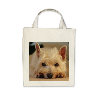 Cute West Highland Terrier Dog Shopping Bag