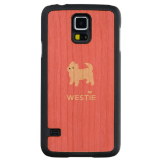 Cute West Highland Terrier - I Love Westies Carved Cherry Galaxy S5 Case