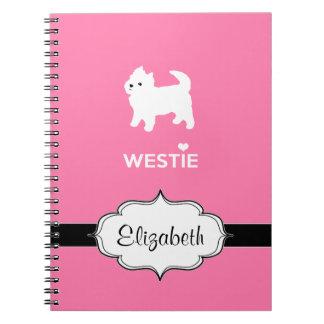 Cute West Highland Terrier - I Love Westies Notebooks