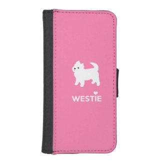 Cute West Highland Terrier - I Love Westies iPhone 5 Wallet Cases