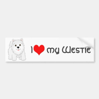 Cute West Highland White Terrier Puppy Dog Bumper Sticker