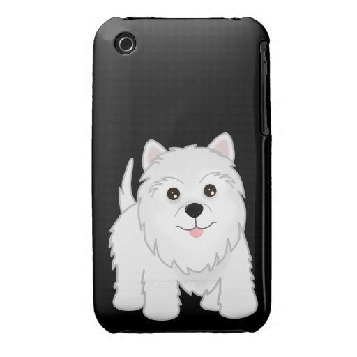 Cute West Highland White Terrier Puppy Dog Case-Mate iPhone 3 Cases