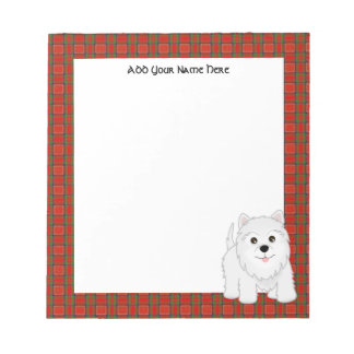 Cute West Highland White Terrier Puppy Dog Notepad