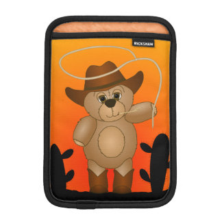 Cute Western Cowboy Teddy Bear Cartoon Mascot iPad Mini Sleeve