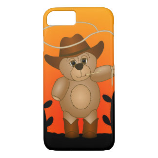 Cute Western Cowboy Teddy Bear Cartoon Mascot iPhone 8/7 Case
