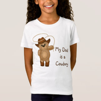 Cute Western Cowboy Teddy Bear Cartoon Mascot T-Shirt