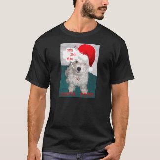 Cute Westie as Santa Paws T-Shirt