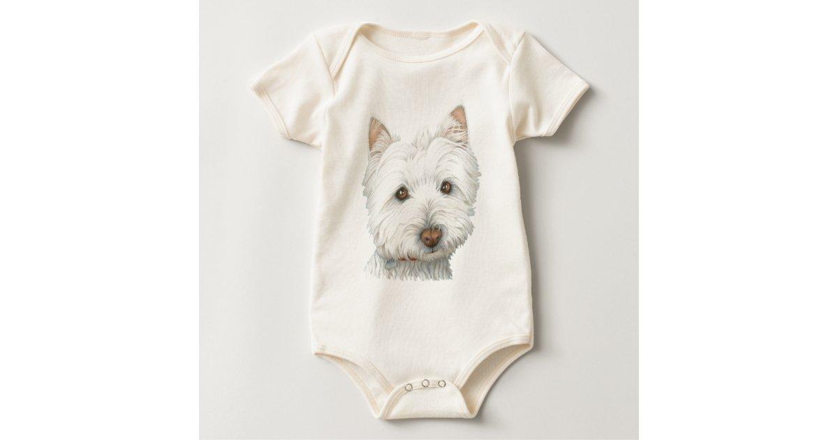 Cute Westie Baby Clothing Baby Bodysuit