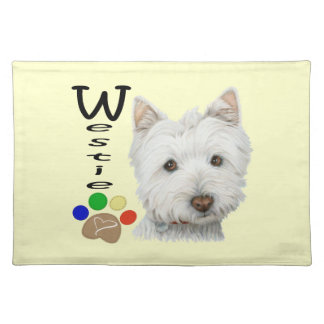Cute Westie Dog American MoJo Placemats