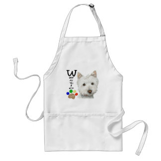 Cute Westie Dog and Paw Print Art Gifts Standard Apron